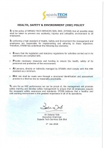 1. HSE Policy 2018