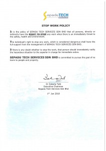 4. Stop Work Policy 2018
